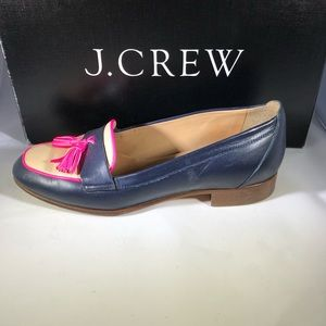 Women's J Crew Biella Tassel Loafer in Navy